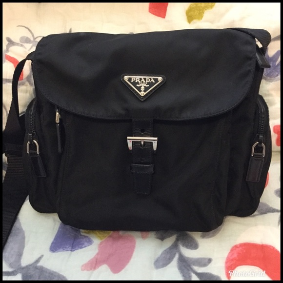 4af4fe6e851e Authentic Prada Tessuto Nylon Crossbody Bag EUC. M 5c75a83593f97e5112ad6465